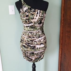 One strap printed dress